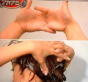 髪様シャンプー エイの形